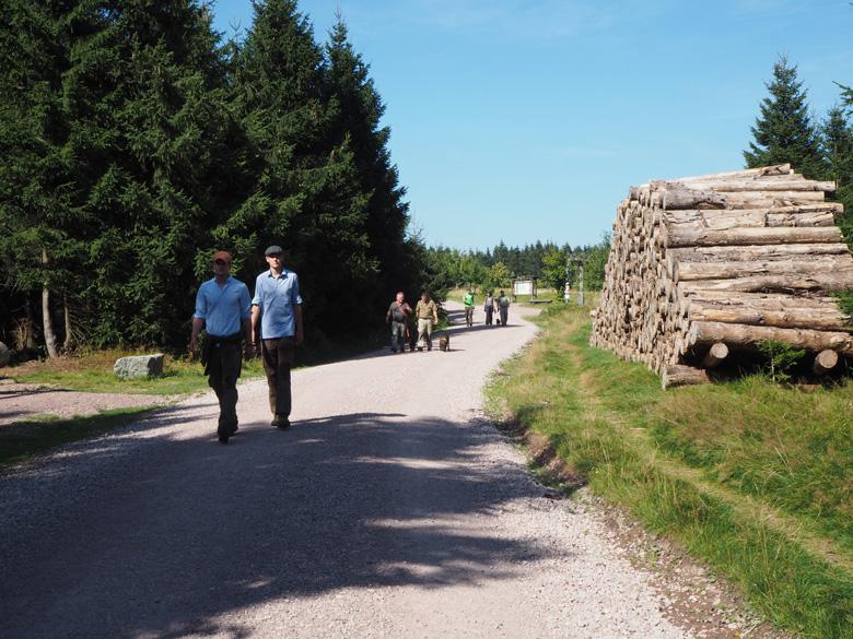 de route naar de Schneekopf