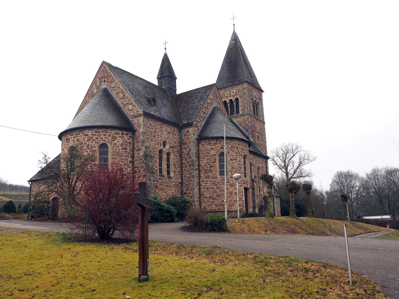 Startpunt kerk Nieder-Albaum