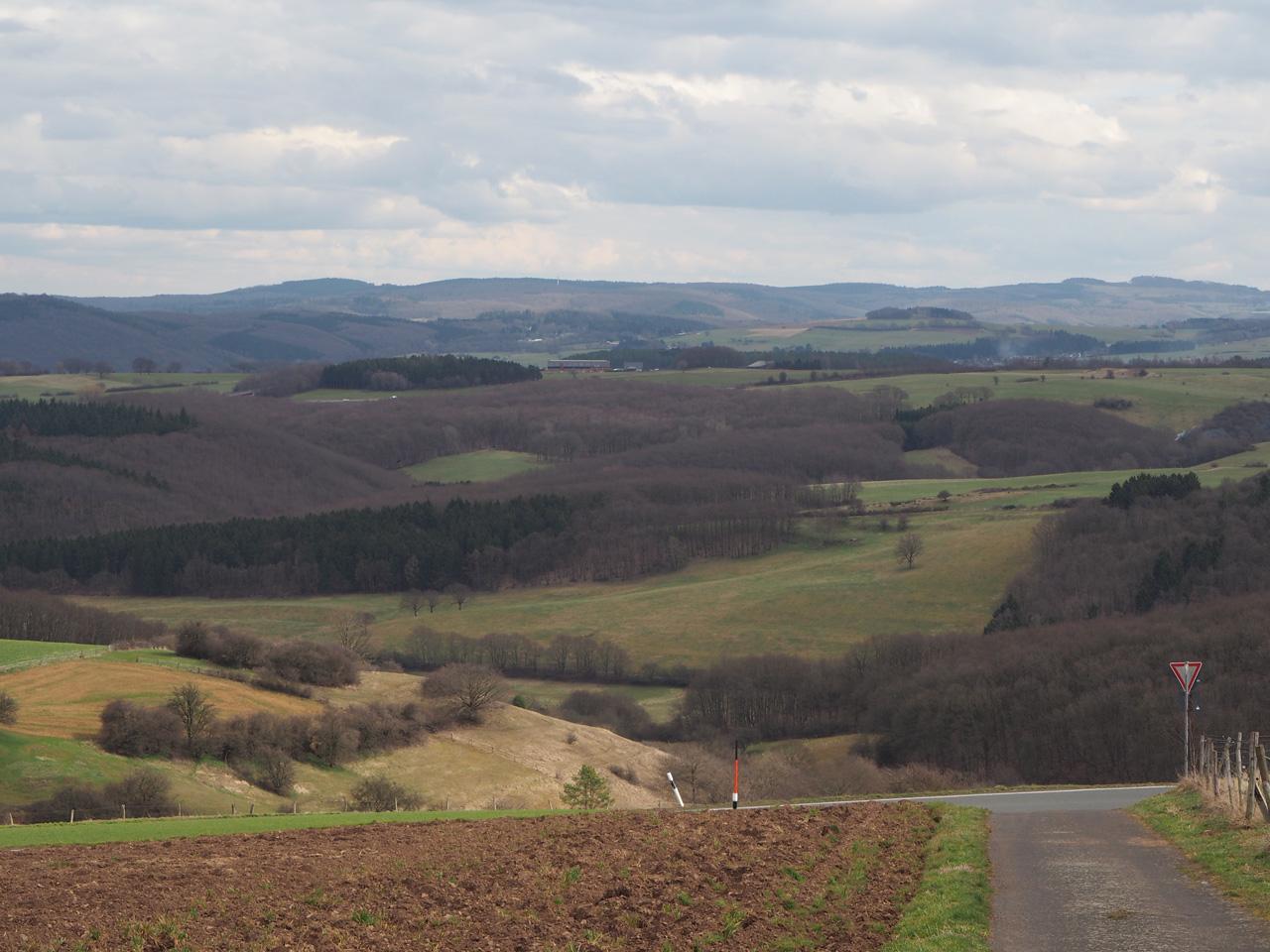 kilometers ver kijken boven Bergheim