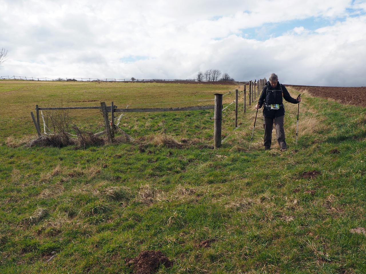 vlak boven Vussem zoeken naar een pad
