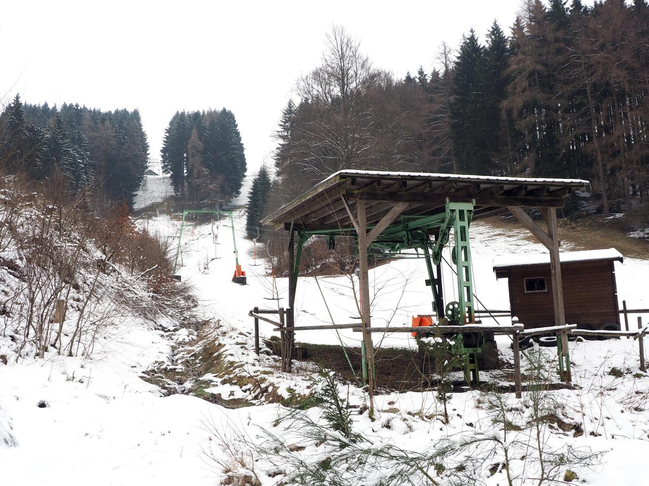 even over de ski-piste