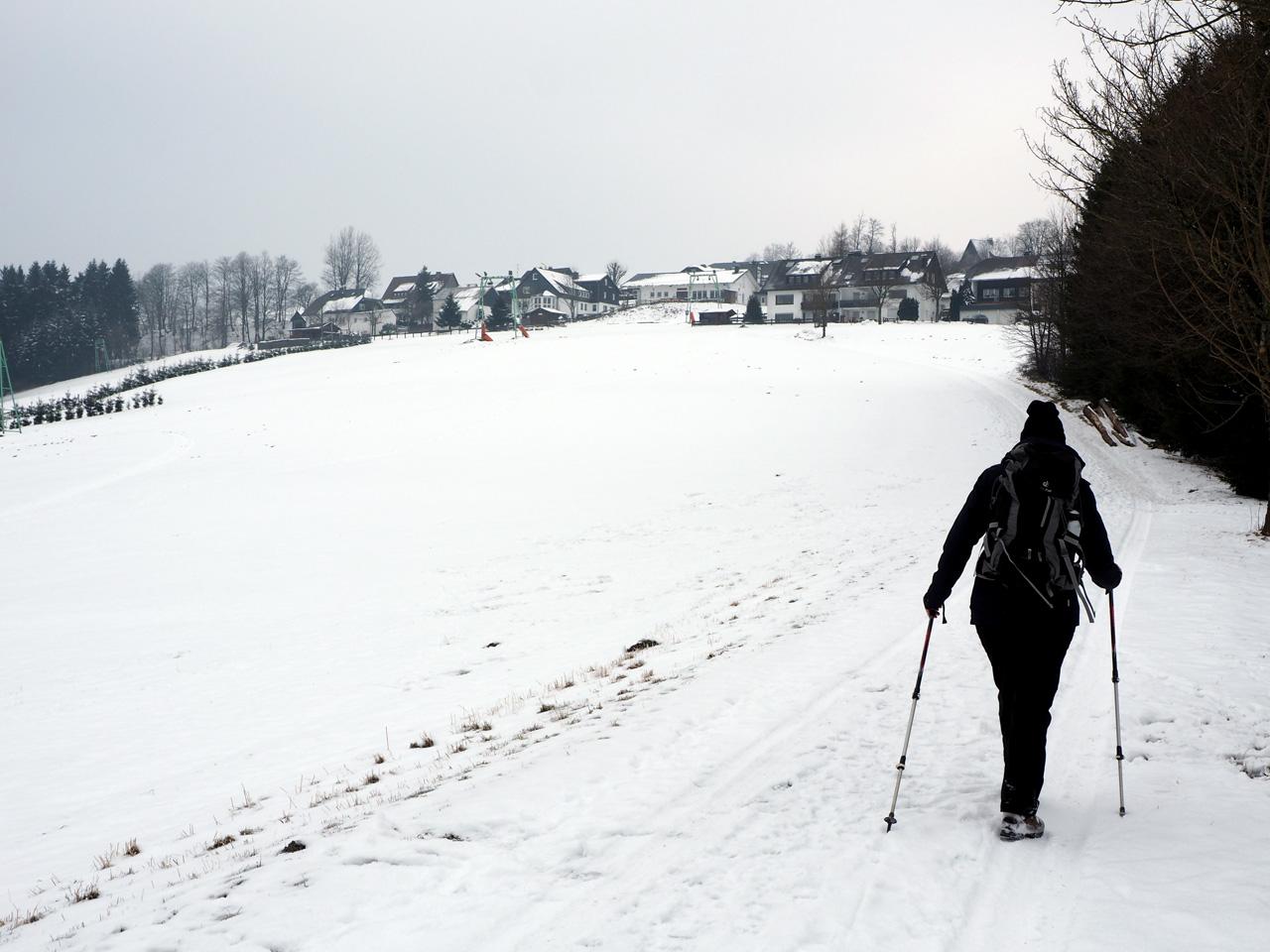 in het ski-gebied Langewiese