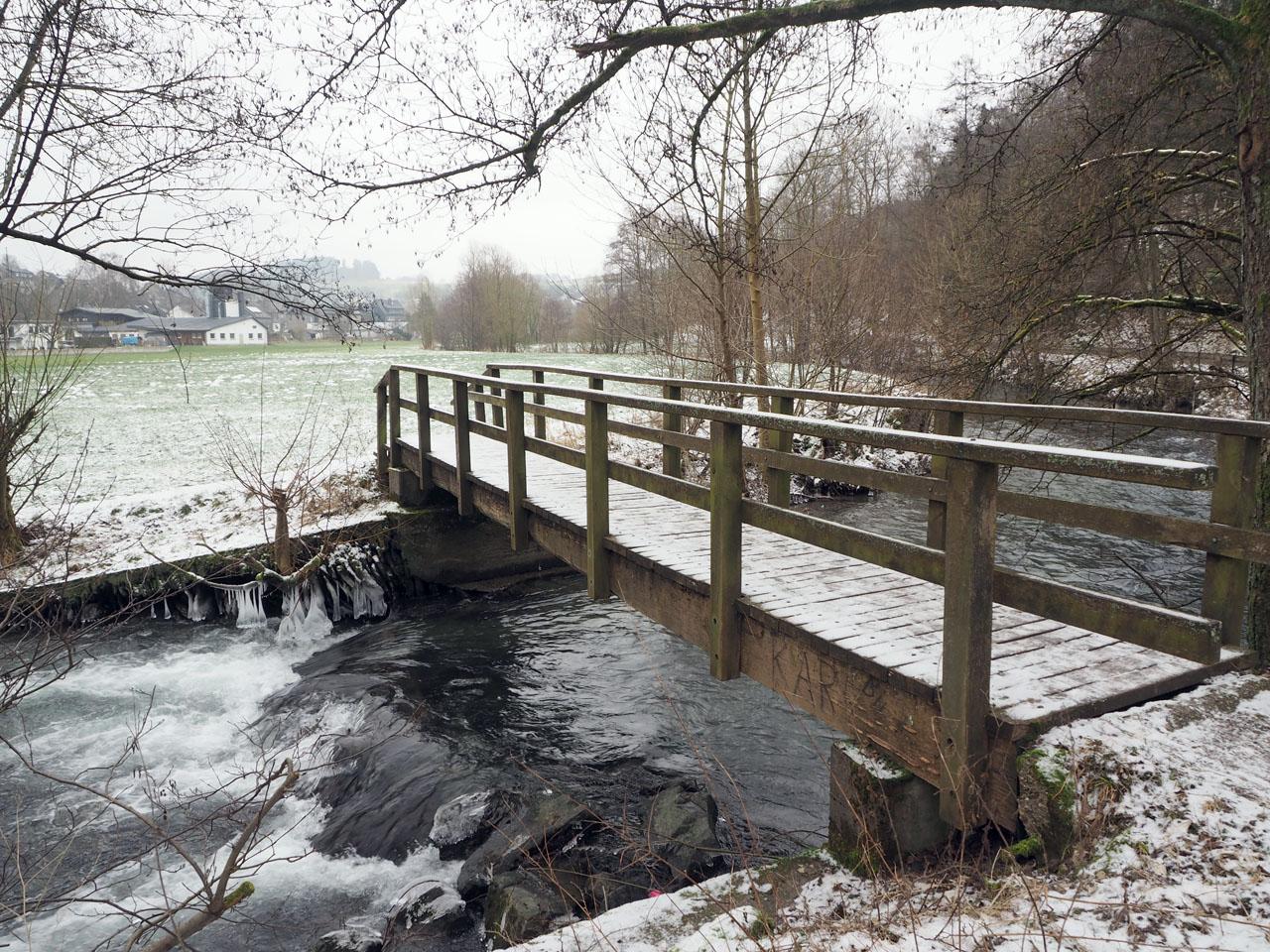 de brug bij Fleckenberg