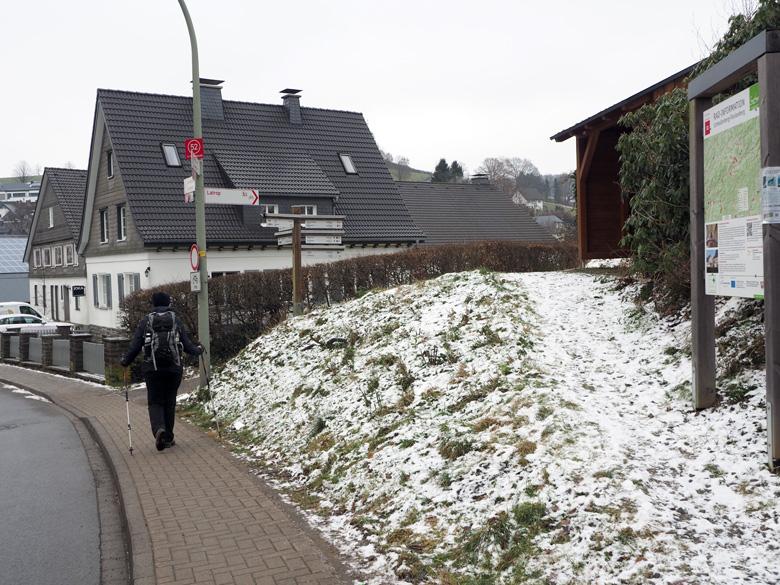 routeborden in Fleckenberg
