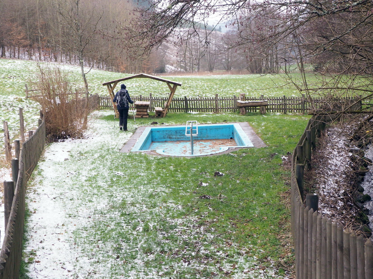 schuilhut met Wassertrettbad