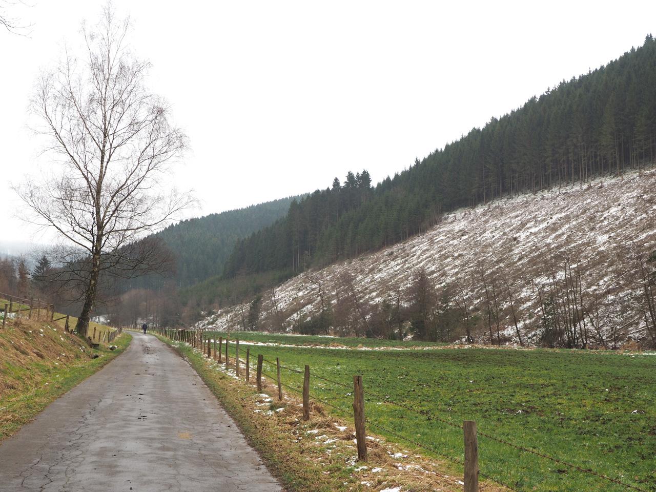 het dal richting Lenne