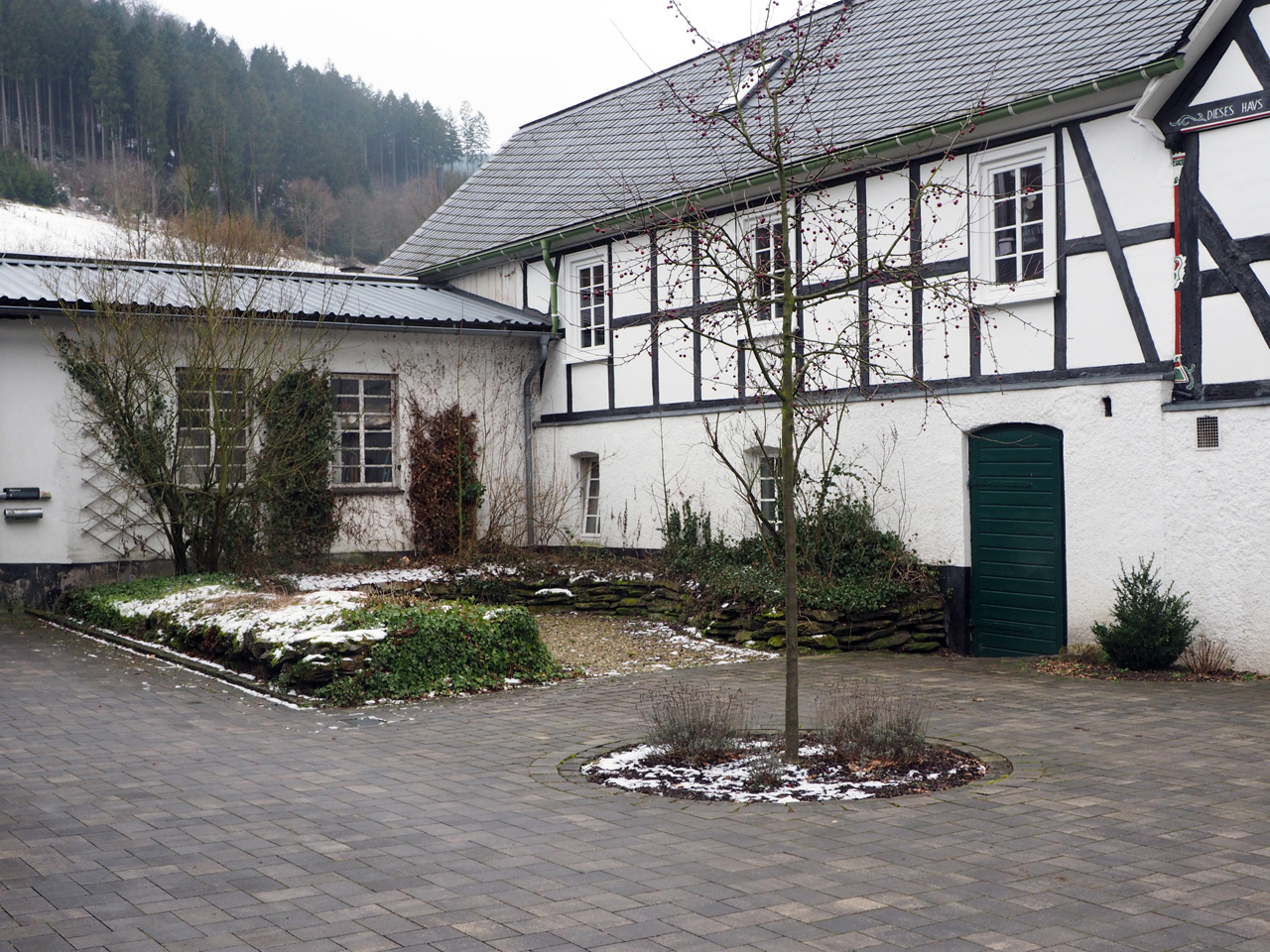 Fachwerk huizen in Lenne