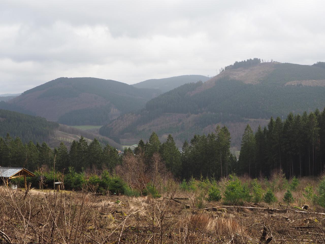 zicht op de Saalhauser Berge