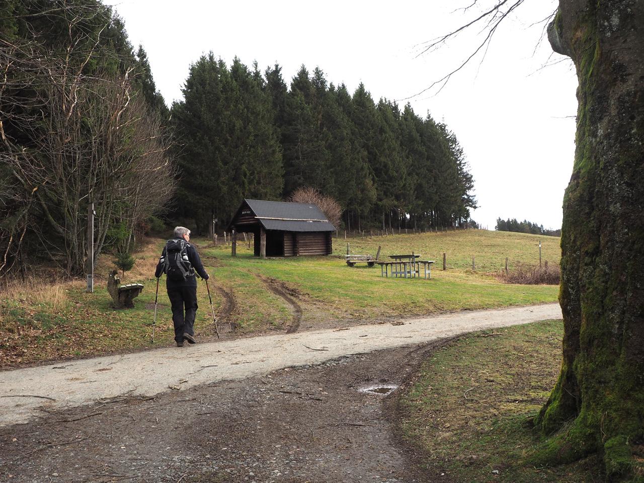 knooppunt Kleines Bildchen bij de Rolano-Hütte