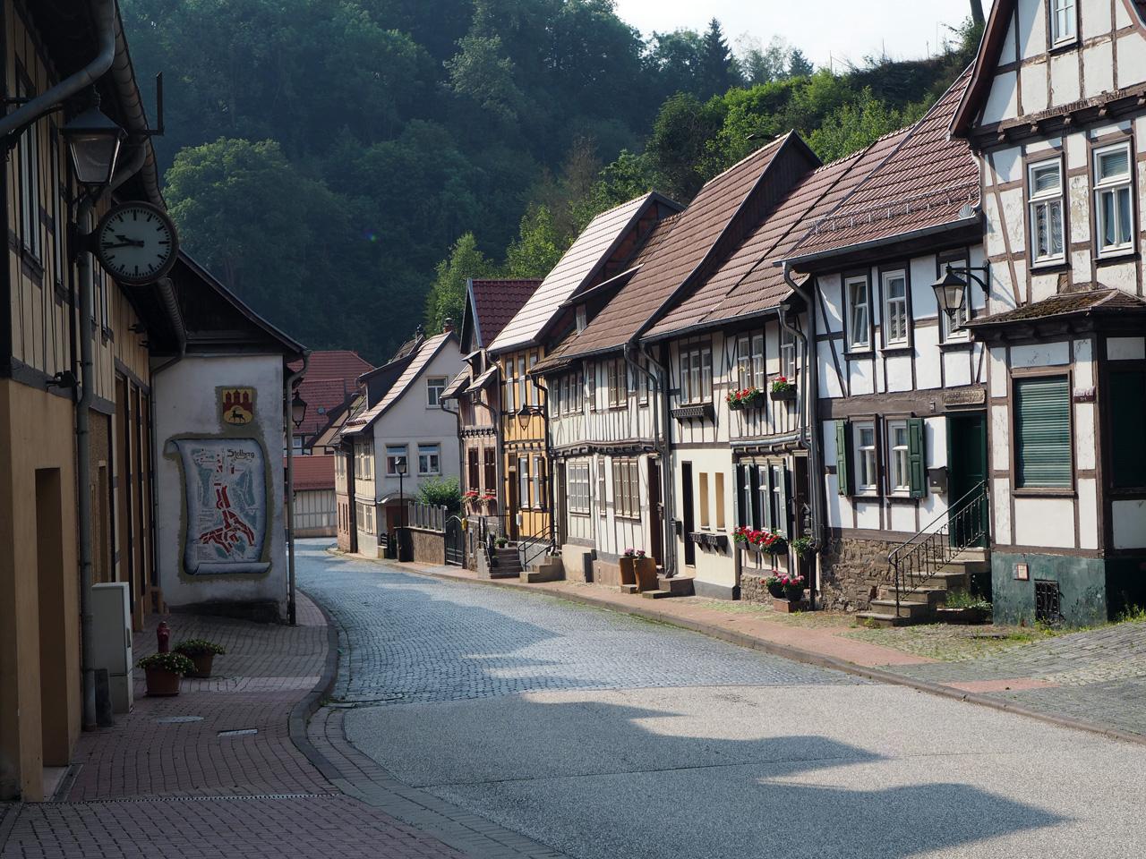 vakwerkhuizen aan de rand van Stolberg