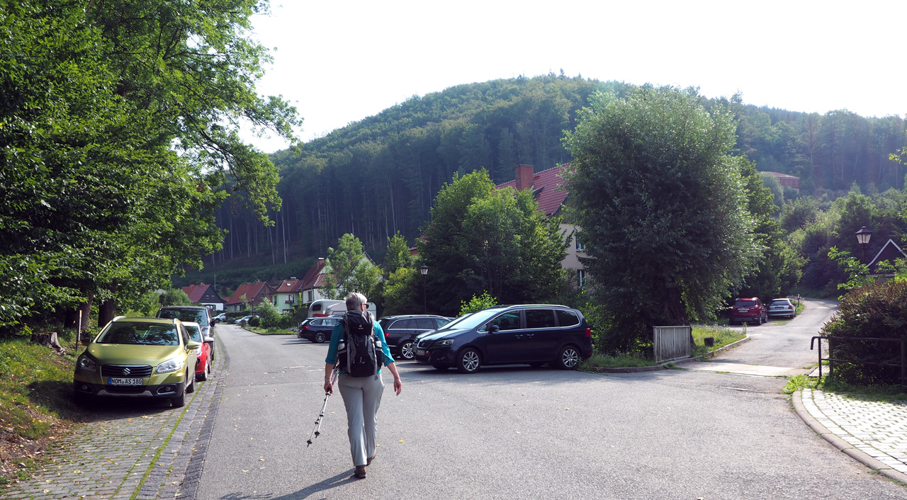 De Wanderparkplatz Zechental