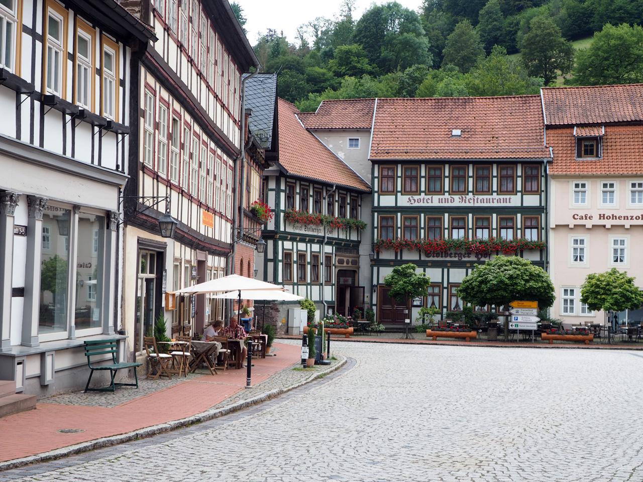 veel terrasjes in het centrum