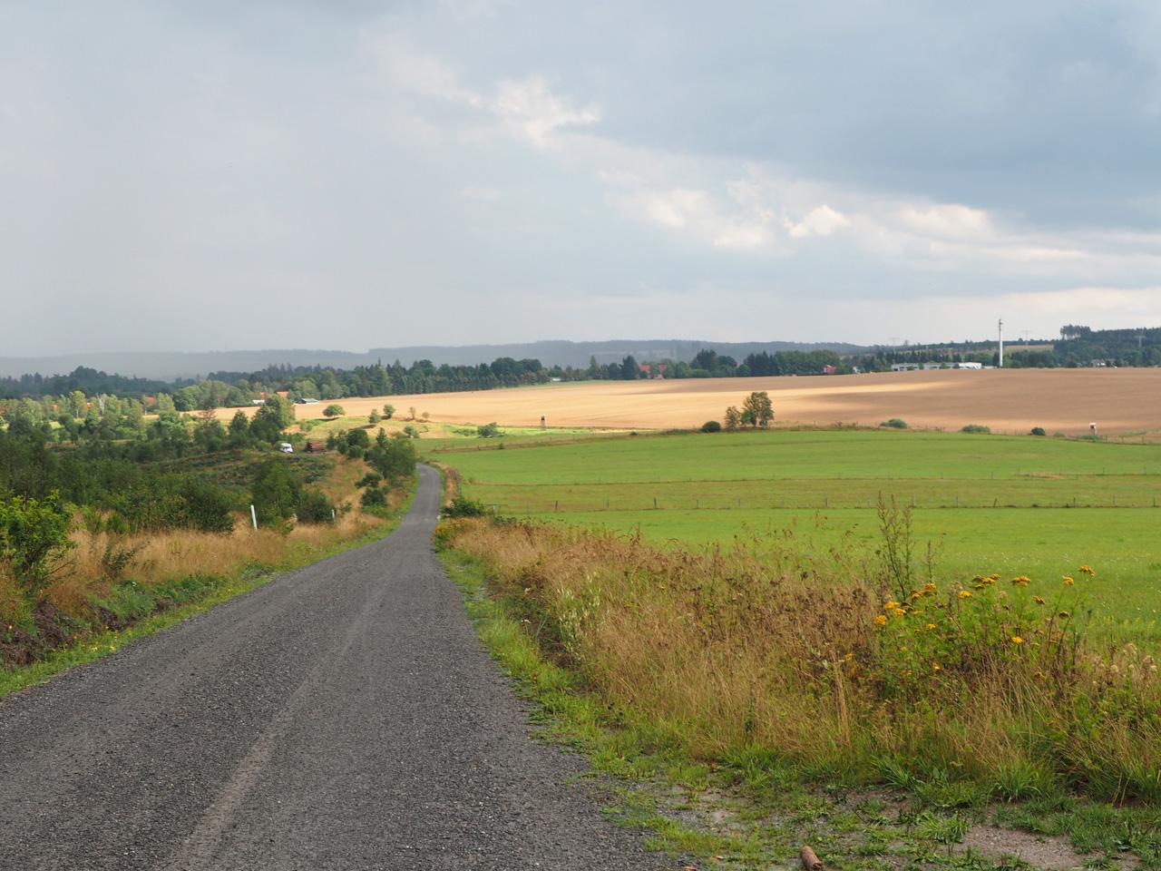uitzicht over het glooiende landschap
