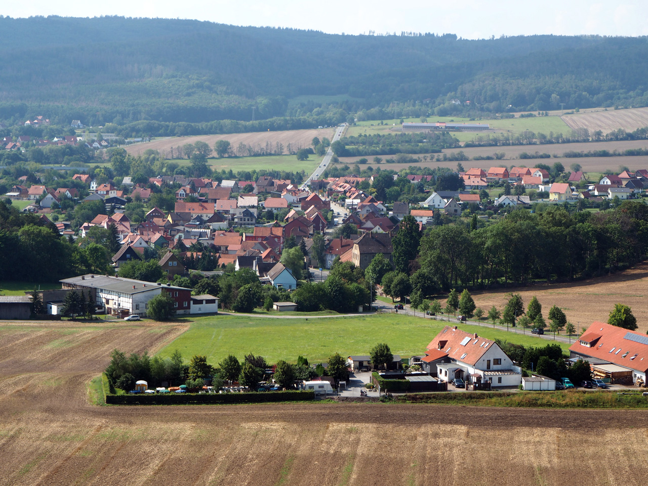 uitzicht over Cattenstedt