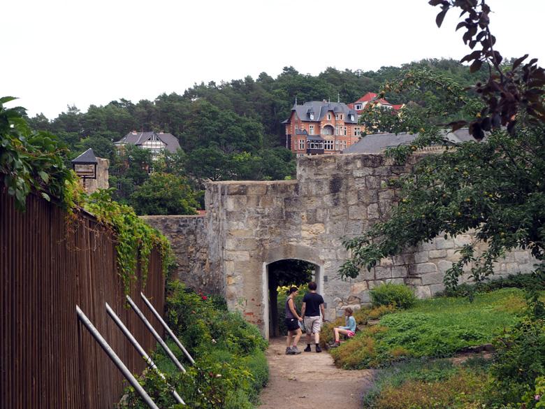 toegang naar het Grosses Schloss Blankenburg