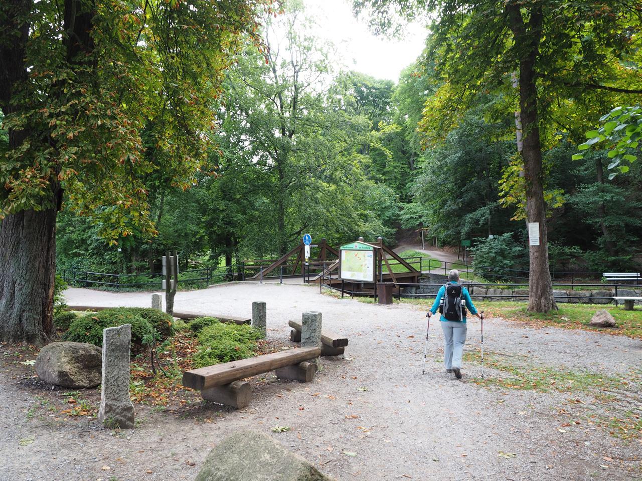 het stadspark bij de Ilse