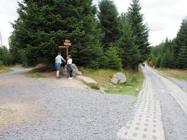 afscheid van de Goetheweg bij de splitsing