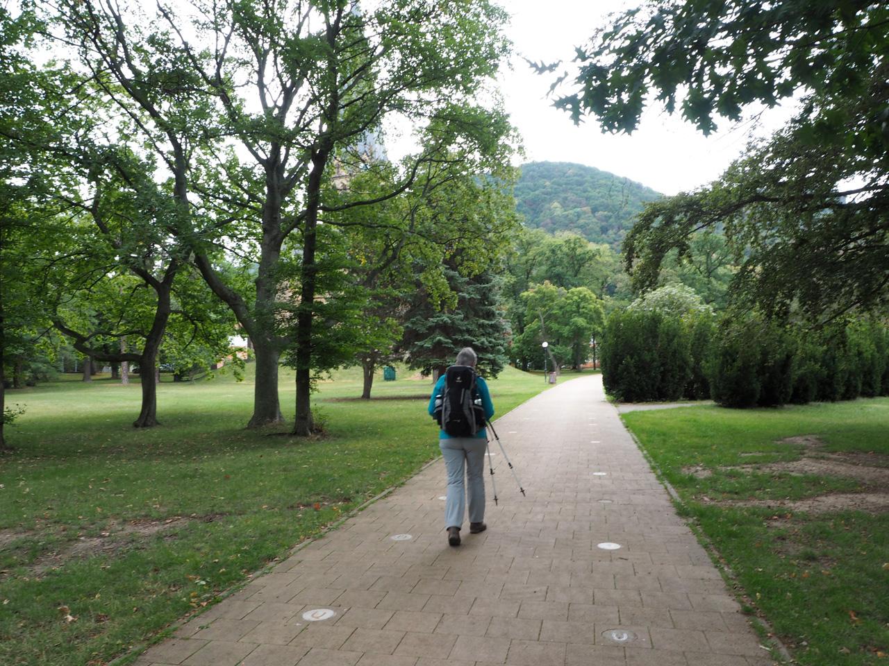 in het Friedenspark Thale