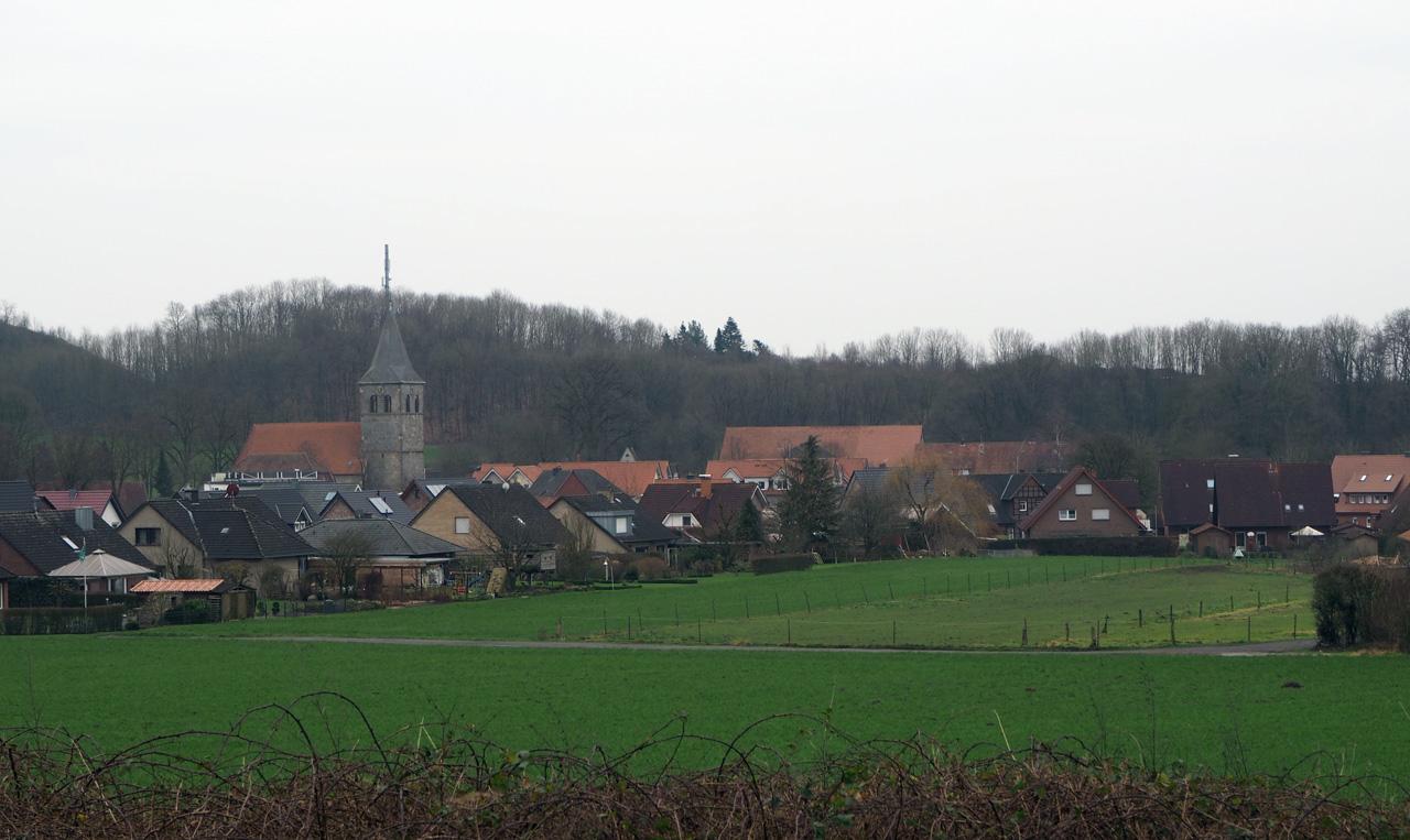 uitzicht op het centrum van Brochterbeck