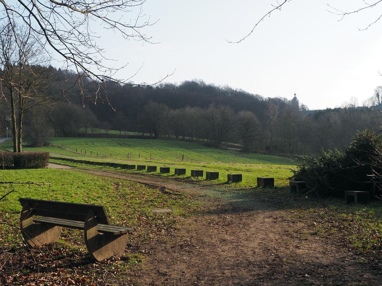 vergezicht bij het Freibad Tecklenburg