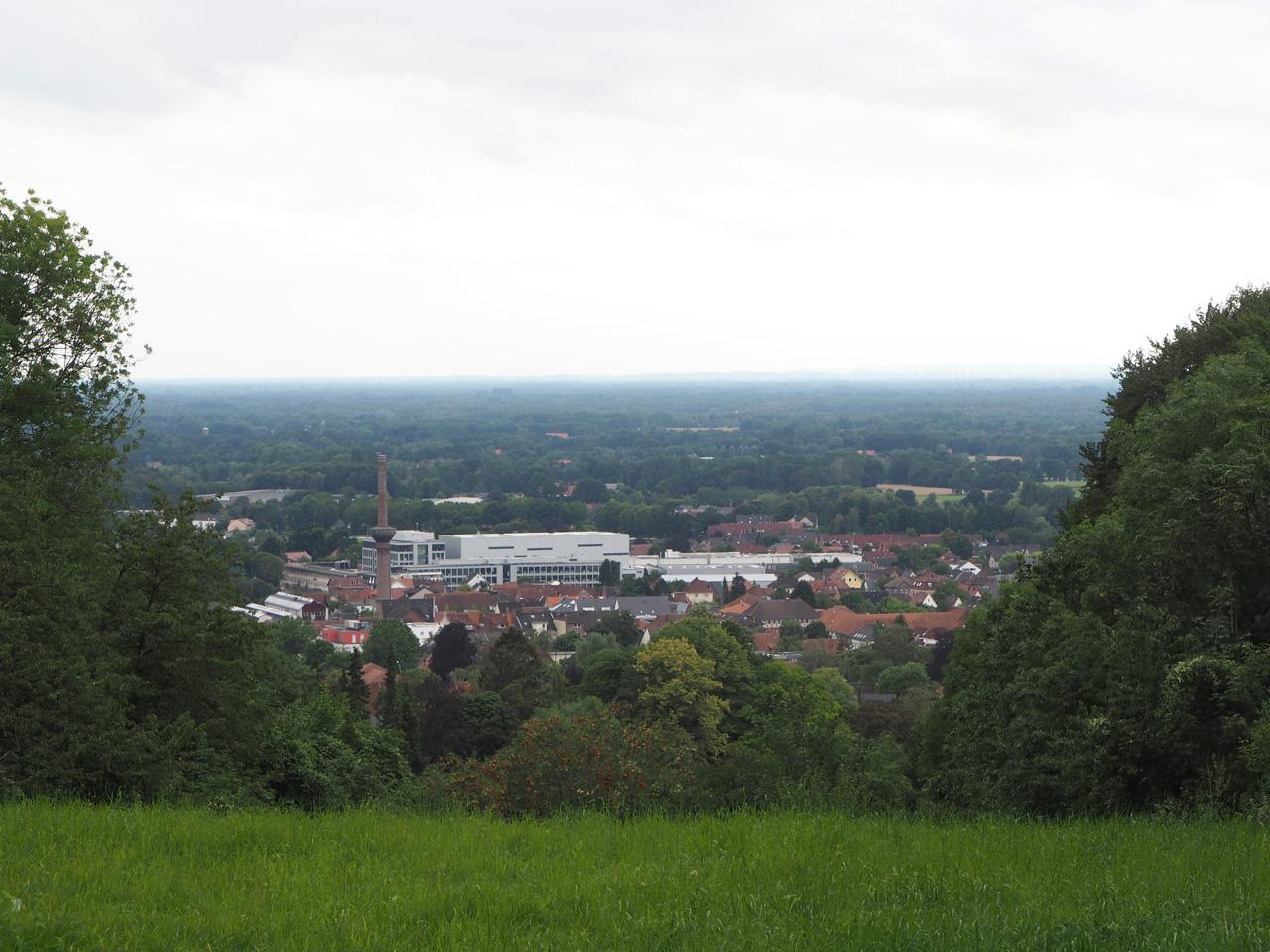 in de verte op de berg ligt Tecklenburg