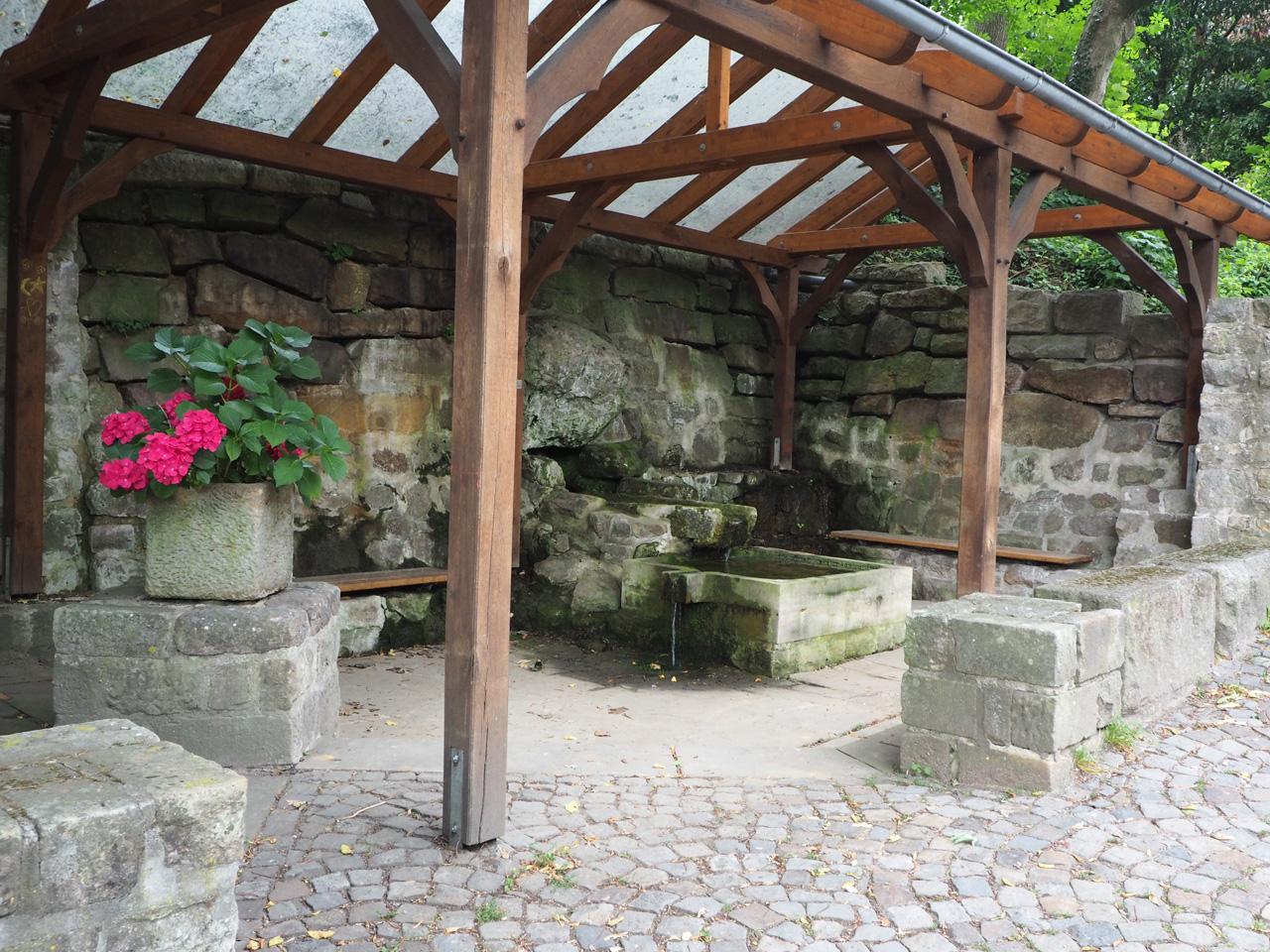 overdekte waterbron Tecklenburg