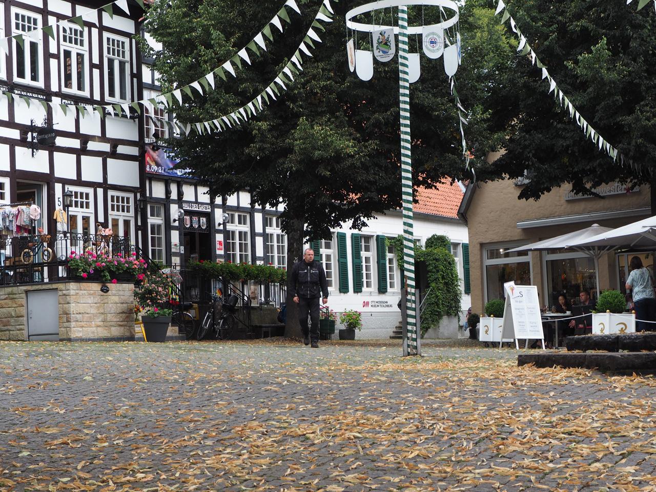 het centrumplein Tecklenburg