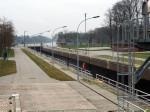 De nieuwe sluizen in het Dortmund-Ems-Kanal