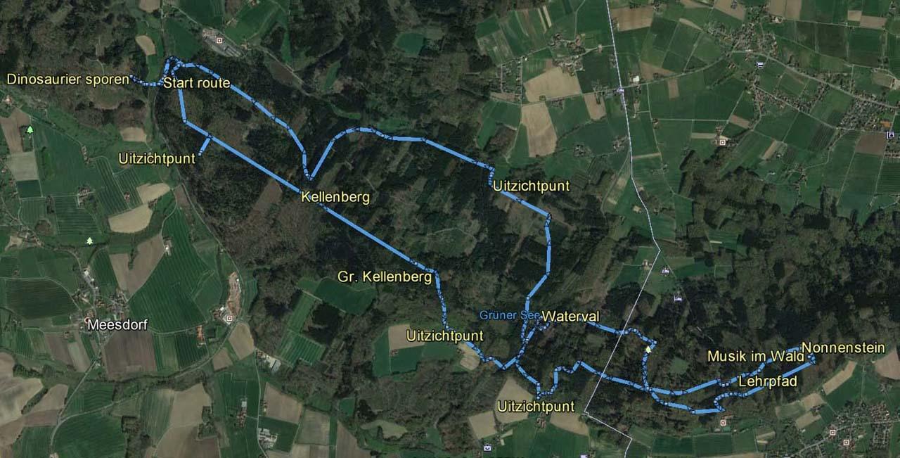 routekaart rondwandeling Barkhausen Melle