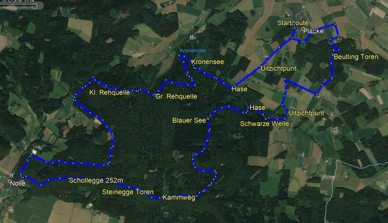 routekaart Wellingholzhausen