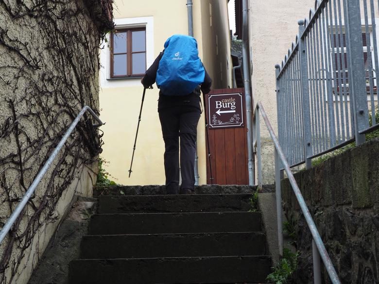 de route naar Burg Stolpen