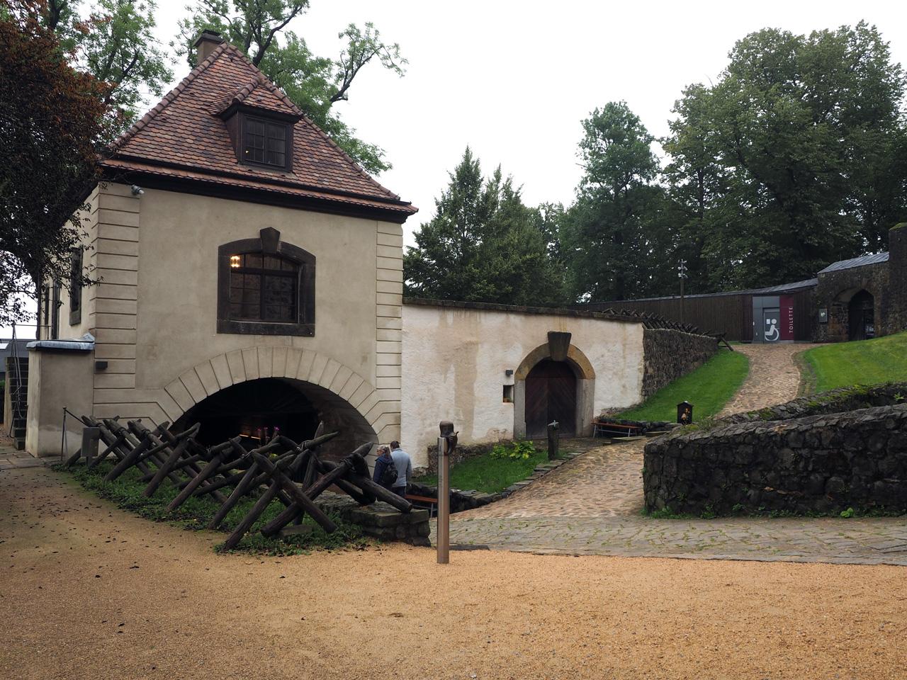 de ingang van Schloss Stolpen