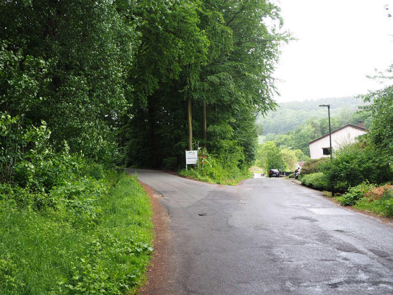 de berg op richting de Falkenburg