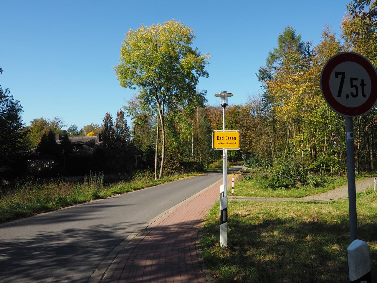 aankomst in Bad Essen