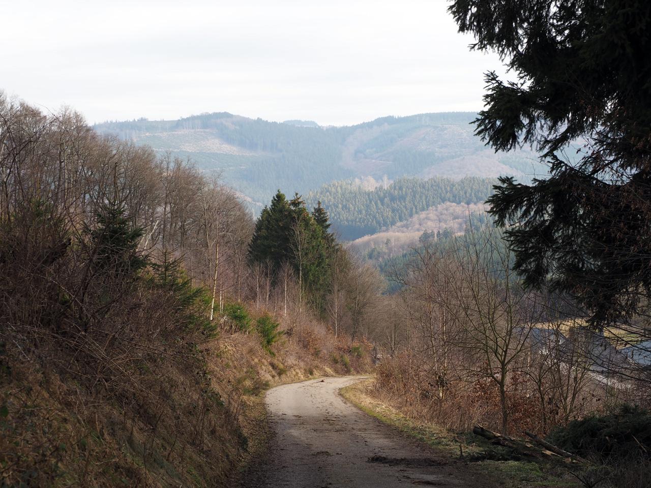 de klim vanuit het dorp