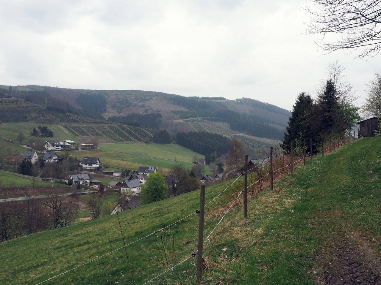 toenemend uitzicht in het dal
