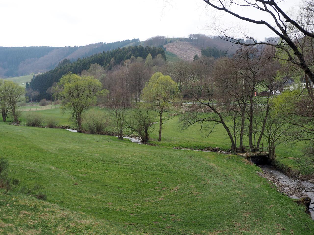 wandelen door een schitterend dal