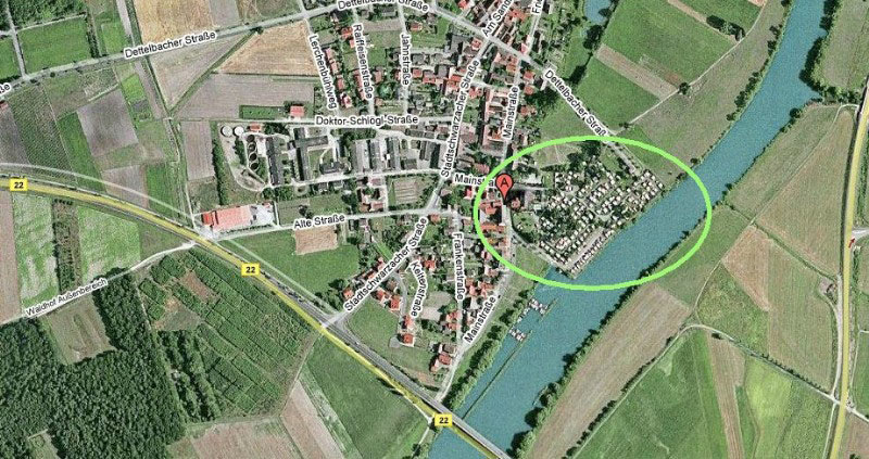 Situatiekaart: Camping Mainblick Schwarzenau
