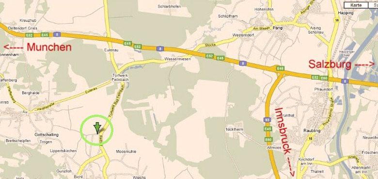 kaart ligging camping Feilnbach