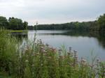 de benen strekken rond de Auwaldsee