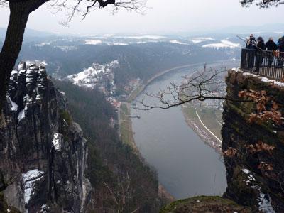 De Bastei, uitzicht op de Elbe