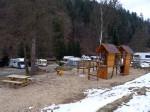 speelplaats centraal op de camping