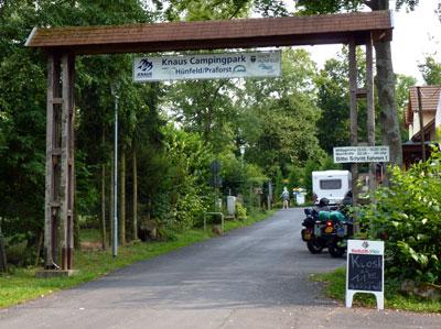 ingang Campingpark Hünfeld Fulda