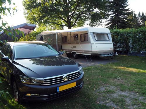 mooi beschutte staplaats Camping Paulfeld