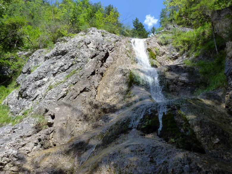pauze met uitzicht op een fraaie waterval