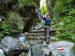 in de avontuurlijke Weissenbachklamm