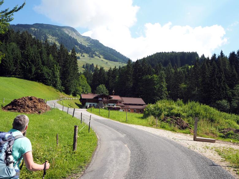 de asfaltweg lang een mooie boerderij