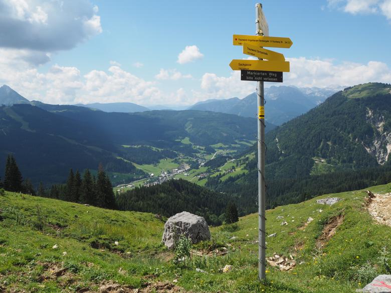 het hoogste punt van de route