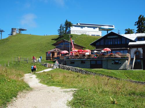 de Sonnalm Hütte komt in zicht