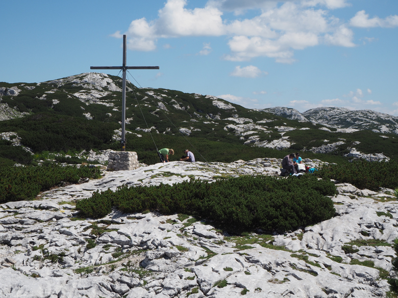 pauze bij het Heilbronner Kreuz